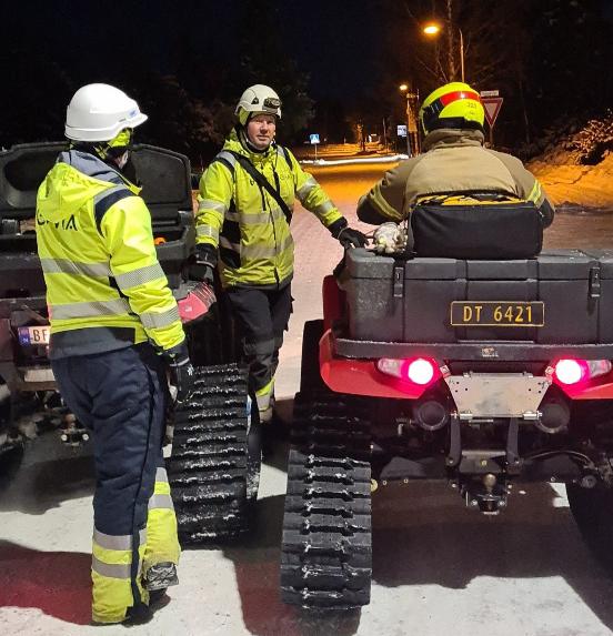 Mannskap ved ATV i Gjerdrum