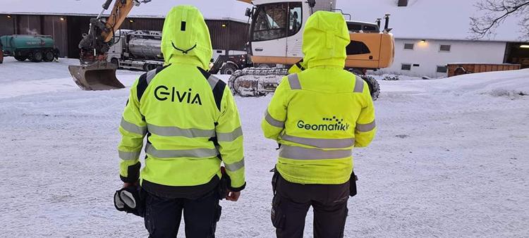 Mannskap fra Elvia og Geomatikk i Gjerdrum