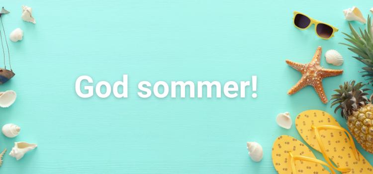 Sommerlig bannerbilde med teksten God sommer!